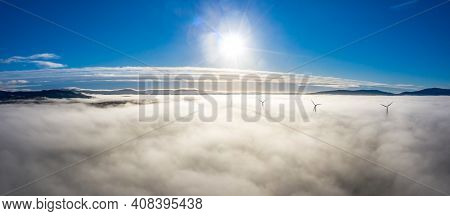 Above The Clouds At Bonny Glen In County Donegal With Fog - Ireland