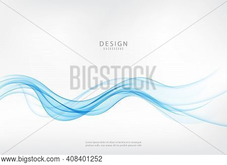 Blue Abstract Wave, Abstract Vector Background Wave Blue Wave Flow