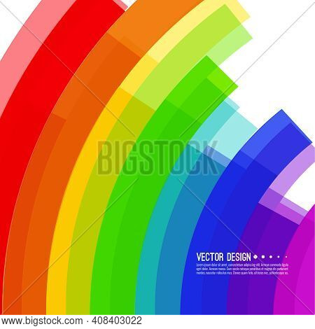 Vector Abstract Colorful Spectrum Background. Rainbow Colored Stripes