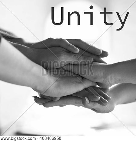 Helping Hands. African And Caucasian Hands Gesturing On Gray Studio Background. Tolerance And Equali