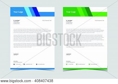 Letterhead Template Vector, Minimalist Style, Printing Design, Business Template.