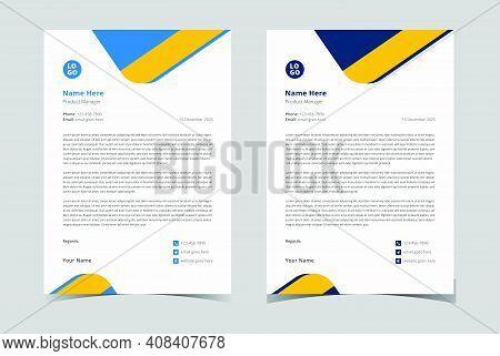 Professional Letterhead Template. Modern Creative Letterhead.corporate Letterhead Template. Minimali
