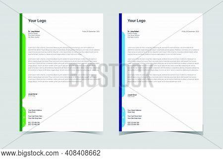 Professional Letterhead Template. Letterhead Design.corporate Letterhead.