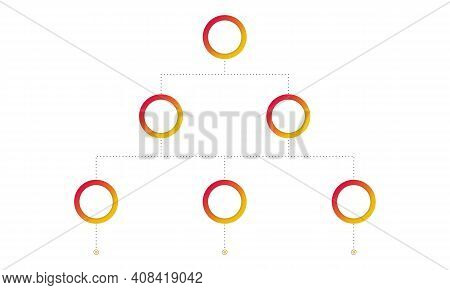 Multi-level Marketing Business Template. Blank Mlm Structure On White Background. Hierarchy System.