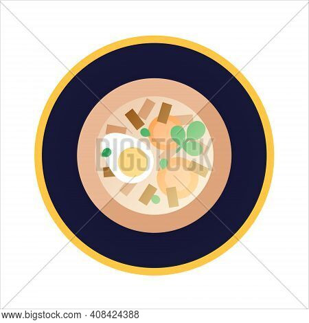 Kholodets - Russian , Jelly With Meat. Isolated Vector Illustration On White Background. Traditional