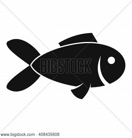 Exotic Fish Icon. Simple Illustration Of Exotic Fish Vector Icon For Web Design Isolated On White Ba