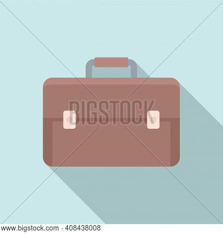 Briefcase Icon. Flat Illustration Of Briefcase Vector Icon For Web Design