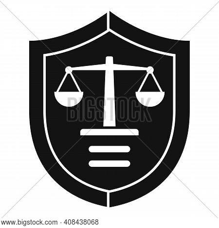 Prosecutor Shield Icon. Simple Illustration Of Prosecutor Shield Vector Icon For Web Design Isolated