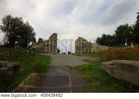 Bodrum, Turkey. 02 March 2016: Historic Site Of Myndos Gate The Only Surviving Gate Of The Ancient W