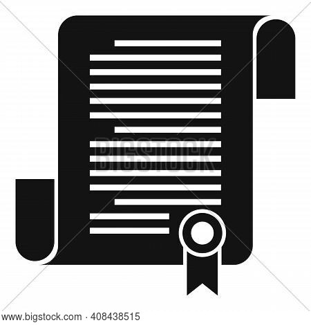 Judge Papyrus Icon. Simple Illustration Of Judge Papyrus Vector Icon For Web Design Isolated On Whit