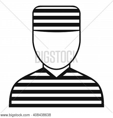 Prison Man Icon. Simple Illustration Of Prison Man Vector Icon For Web Design Isolated On White Back