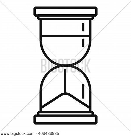 Prosecutor Hourglass Icon. Outline Prosecutor Hourglass Vector Icon For Web Design Isolated On White