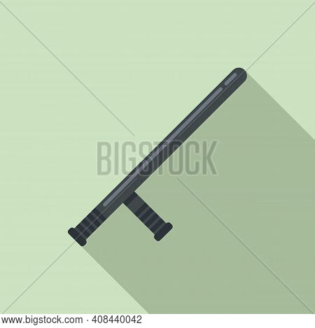 Prison Guard Bat Icon. Flat Illustration Of Prison Guard Bat Vector Icon For Web Design