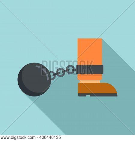 Prison Metal Ball Icon. Flat Illustration Of Prison Metal Ball Vector Icon For Web Design