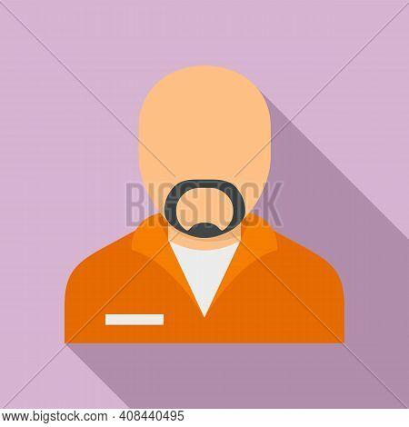 Prison Criminal Icon. Flat Illustration Of Prison Criminal Vector Icon For Web Design