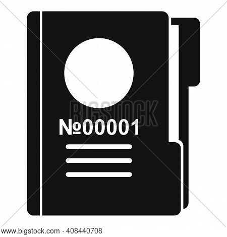 Prison Folder Icon. Simple Illustration Of Prison Folder Vector Icon For Web Design Isolated On Whit