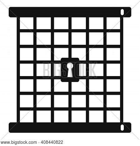 Prison Gate Icon. Simple Illustration Of Prison Gate Vector Icon For Web Design Isolated On White Ba