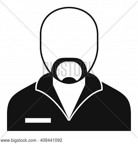 Prison Criminal Icon. Simple Illustration Of Prison Criminal Vector Icon For Web Design Isolated On