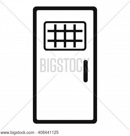 Prison Metal Door Icon. Simple Illustration Of Prison Metal Door Vector Icon For Web Design Isolated