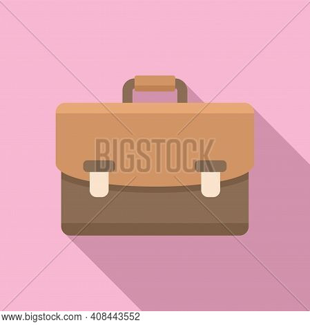 Notary Briefcase Icon. Flat Illustration Of Notary Briefcase Vector Icon For Web Design
