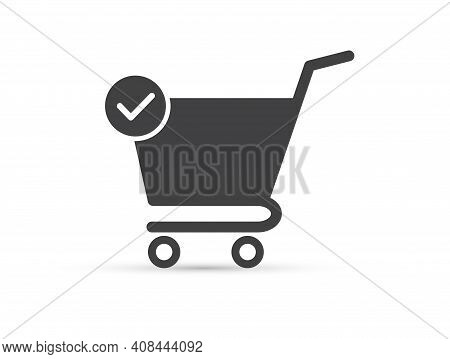 Shopping Cart Icon. Add To Cart Icon. Flat Design. On White Background. Vector Illustration.