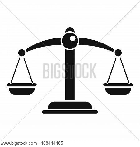 Notary Scales Icon. Simple Illustration Of Notary Scales Vector Icon For Web Design Isolated On Whit