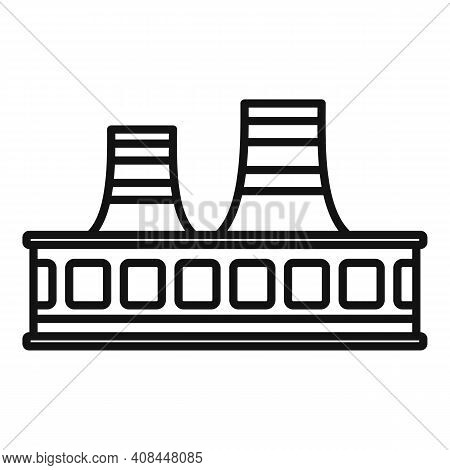 Refinery Recycle Factory Icon. Outline Refinery Recycle Factory Vector Icon For Web Design Isolated