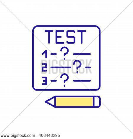 Test Prep Rgb Color Icon. Exam Preparation. Educational Course. Tutoring Service. Online Practice. P