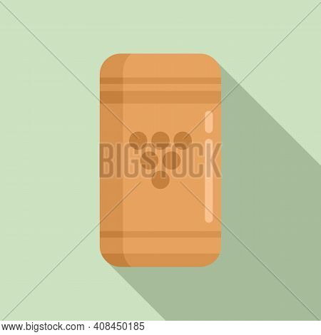 Wine Cork Icon. Flat Illustration Of Wine Cork Vector Icon For Web Design