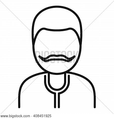 Winemaker Man Icon. Outline Winemaker Man Vector Icon For Web Design Isolated On White Background