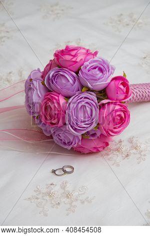 Beautiful Bridal Bouquet Wedding Love Romance Rose