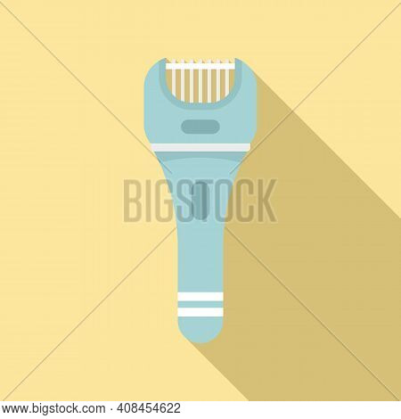 Hair Removal Shaver Icon. Flat Illustration Of Hair Removal Shaver Vector Icon For Web Design