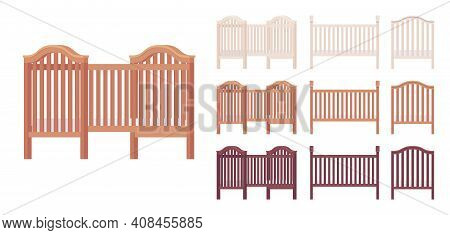 Baby And Toddler Wooden Cot Bed Set. Nursery Home Small Furniture For Young Child, Infant Safe Cradl
