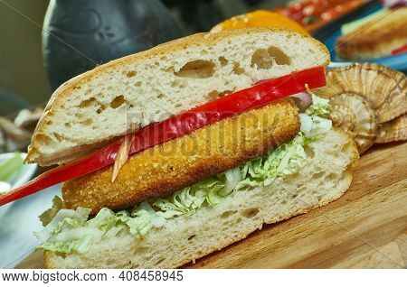 Cajun Perch Po'boys  Sandwich