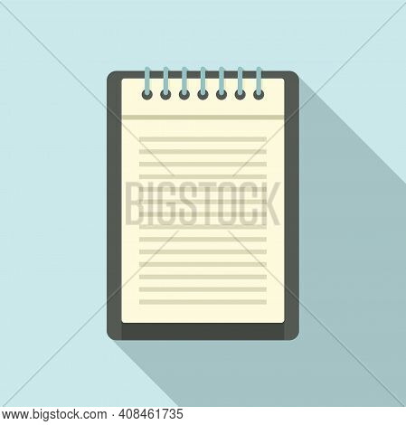 Office Manager Notepad Icon. Flat Illustration Of Office Manager Notepad Vector Icon For Web Design