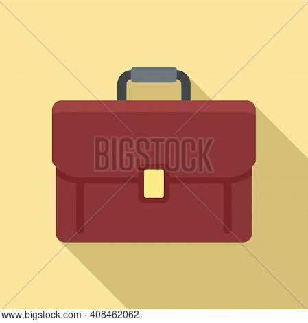 Office Manager Briefcase Icon. Flat Illustration Of Office Manager Briefcase Vector Icon For Web Des