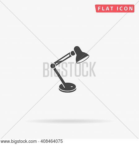 Table Lamp Flat Vector Icon. Hand Drawn Style Design Illustrations.