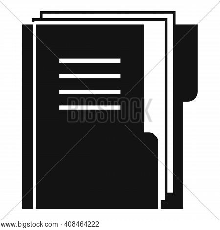 Office Manager Doc Folder Icon. Simple Illustration Of Office Manager Doc Folder Vector Icon For Web
