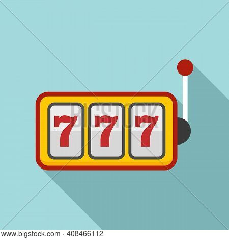 Slot Machine Icon. Flat Illustration Of Slot Machine Vector Icon For Web Design