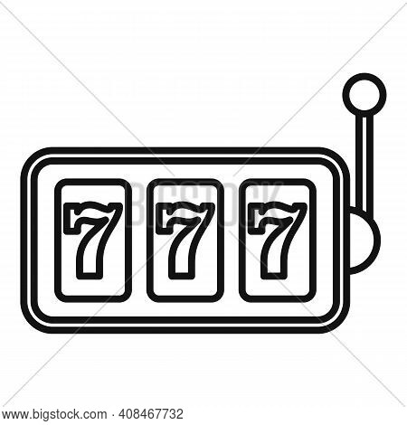 Slot Machine Icon. Outline Slot Machine Vector Icon For Web Design Isolated On White Background