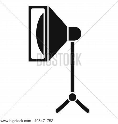 Tv Studio Light Icon. Simple Illustration Of Tv Studio Light Vector Icon For Web Design Isolated On