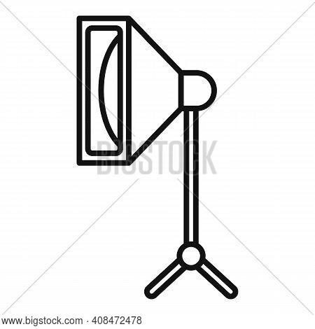 Tv Studio Light Icon. Outline Tv Studio Light Vector Icon For Web Design Isolated On White Backgroun