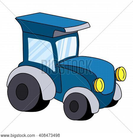 Tractor Icon. Cartoon Of Tractor Vector Icon For Web Design Isolated On White Background