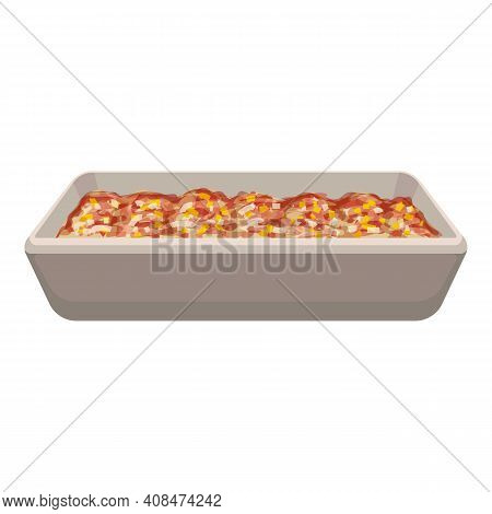 Lasagna Icon. Cartoon Of Lasagna Vector Icon For Web Design Isolated On White Background