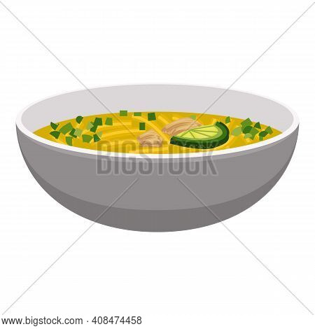 Pumpkin Soup Icon. Cartoon Of Pumpkin Soup Vector Icon For Web Design Isolated On White Background