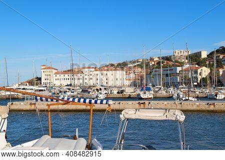 Harbor of Banyuls-sur mer at the south-coast from Corsica