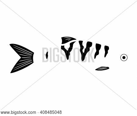 Fish, Edged Clipart, Fishing Lure Template. Vector Illustration.