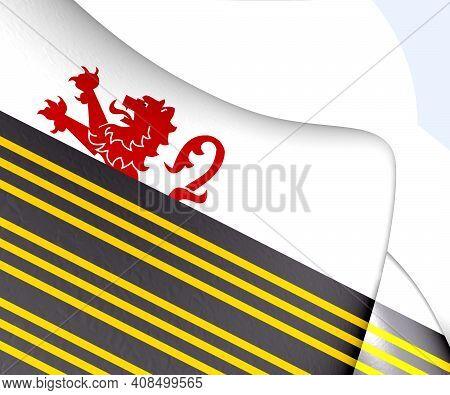 3d Flag Of Eersel (north Brabant), Netherlands. 3d Illustration.