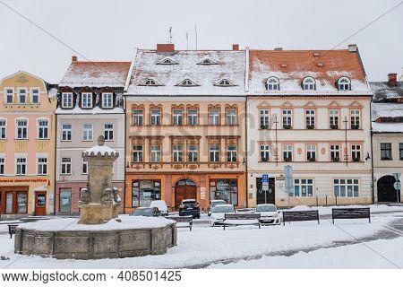 Fascinating Picturesque Street, Baroque, Renaissance And Art Nouveau Historical Buildings On T. G. M