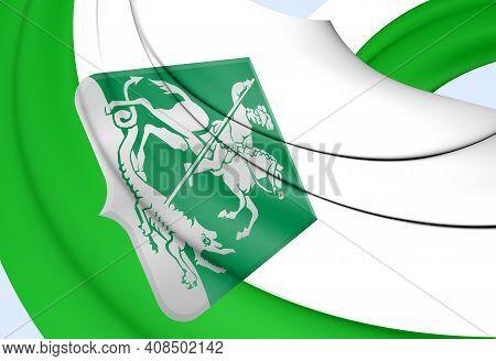 3d Flag Of Ridderkerk (south Holland), Netherlands. 3d Illustration.